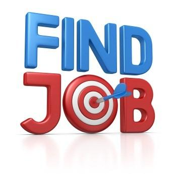 Schriftzug Symbol Find Job
