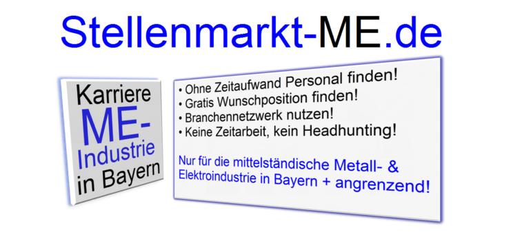 Jetzt gratis testen! Neue Vollservice-Jobbörse mit Lebenslaufdatenbank – nur für den ME-Mittelstand in Süddeutschland!